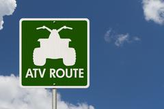 Places to ride atv Stock Photos