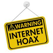 warning of internet hoax - stock illustration