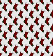 Red and green christmas stocking textured fabric background Stock Illustration