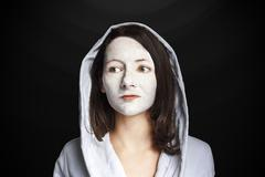 Woman Portrait facemask Stock Photos