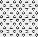 Stock Illustration of black and white star of david patterned textured fabric background