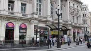 People Walking London Underground Metro Tube Station Train Railway Entrance Day Stock Footage