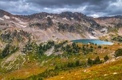 lake solitude grand tetons - stock photo