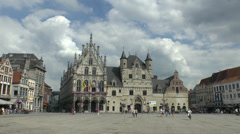Mechelen City Hall, Flanders, Belgium. Stock Footage