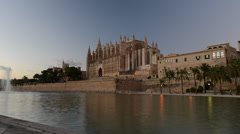 timelapse cathedral in Palma de Mallorca - stock footage