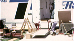 LOADING VAN MOVING DAY Relocating Family 1970s Vintage 8mm Film Home Movie 7313 - stock footage
