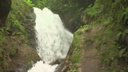 Stock Video Footage of Costa Rica waterfall close-up