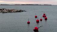 815 buoy floating near the shore Stock Footage