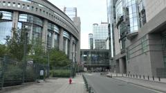 European Parliament Paul-Henri Spaak Building, Brussels, Belgium Stock Footage