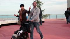 EDITORIAL People in Tibidabo park in Barcelona HD Stock Footage