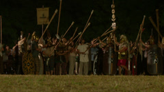 Roman celt night Stock Footage