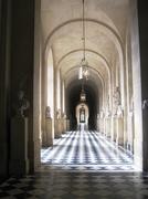 Versailles Palace - Lonely Walk - stock photo