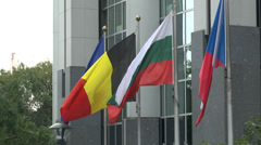 The European Parliament, Brussels, Belgium. Stock Footage