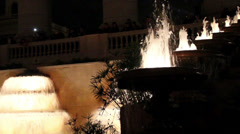 910 big water fountain and some small one in spain barcelona Stock Footage