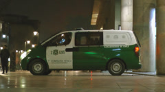 A Chilean Police Van Stock Footage