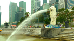 The Singapore Merlion - stock footage
