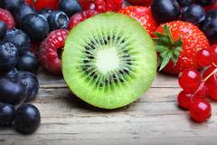 .mix of differrerent berrie - stock photo