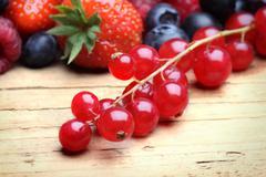 mix of differrerent berrie - stock photo