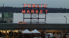 Pike Place Market, Seattle Stock Footage