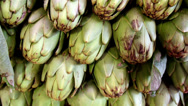 Stock Video Footage of ecological big artichokes piled