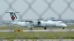 Air Canada Express Plane. Stock Footage