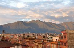 Kathmandu at Sunset Stock Photos