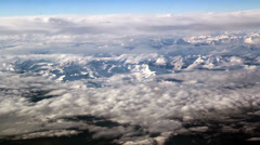 Cloud formations above the mountains thin clouds and the white mountain Stock Footage