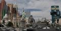 Ultra HD 4K Sin City MGM grand New York Hotel Casino Car Busy Traffic Jam Day Footage