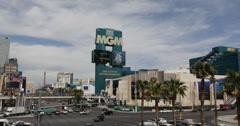 Ultra HD 4K Las Vegas Strip Car Traffic Rush Hour Busy Urban Scene Sin City US Stock Footage