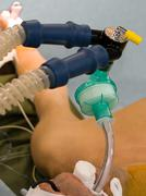 Mechanical lungs ventilation in OR - stock photo