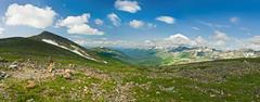 Mountain pass in west siberia Stock Photos