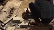 Concrete Cutter Stock Footage