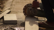 Concrete Cutter Stock Footage