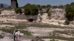 The limestone quarry on Robben Stock Footage