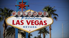Famous Welcome To Las Vegas Sign Stock Footage