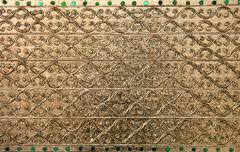 Stock Photo of gold metal pattern background
