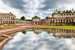the courtyard of zwinger in dresden - stock photo