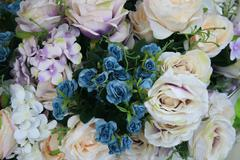 Flowers mixed bouquet for background Stock Photos