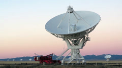 Very Large Array Radio Telescope at 1080 - stock footage