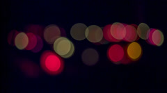 Focus on Graveyard Candles at night Stock Footage