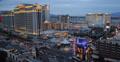 Ultra HD 4K Caesars Palace Casino Hotel Illuminated City Las Vegas Strip night Footage