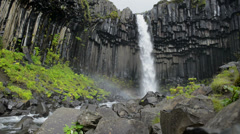 Svartifoss waterfall Stock Footage