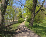 Stock Video Footage of Volkspark Klein-Glienicke, BERLIN - POTSDAM in springtime + pan