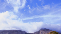 Stock Video Footage of Sky, clouds and rocks. Santorini - Greece.