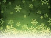 Stock Illustration of abstract green background with snowfall.