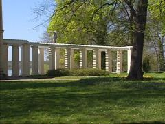 BERLIN - POTSDAM Gallery + pan park side of the Casino building, Jungfernsee Stock Footage