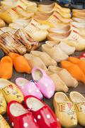 dutch wooden clogs - stock photo