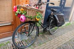 dutch transport bike - stock photo