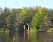 Boathouse at Lakeside Jungfernsee Stock Footage