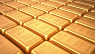 Stock Video Footage of Gold bars loop. Finance 3d animation